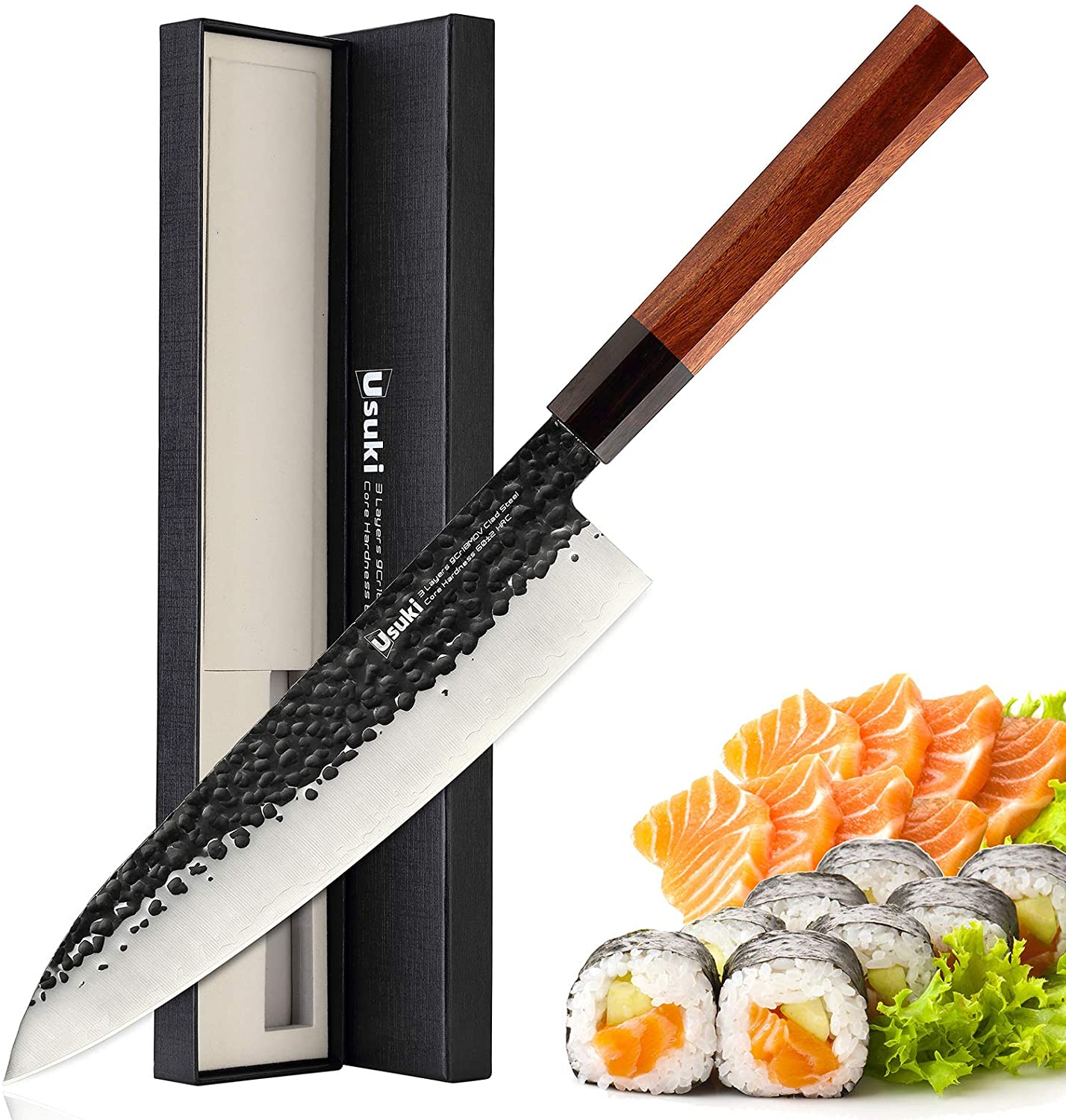 Best Japanese knife for slicing beef- Usuki Gyuto Chef's Knife