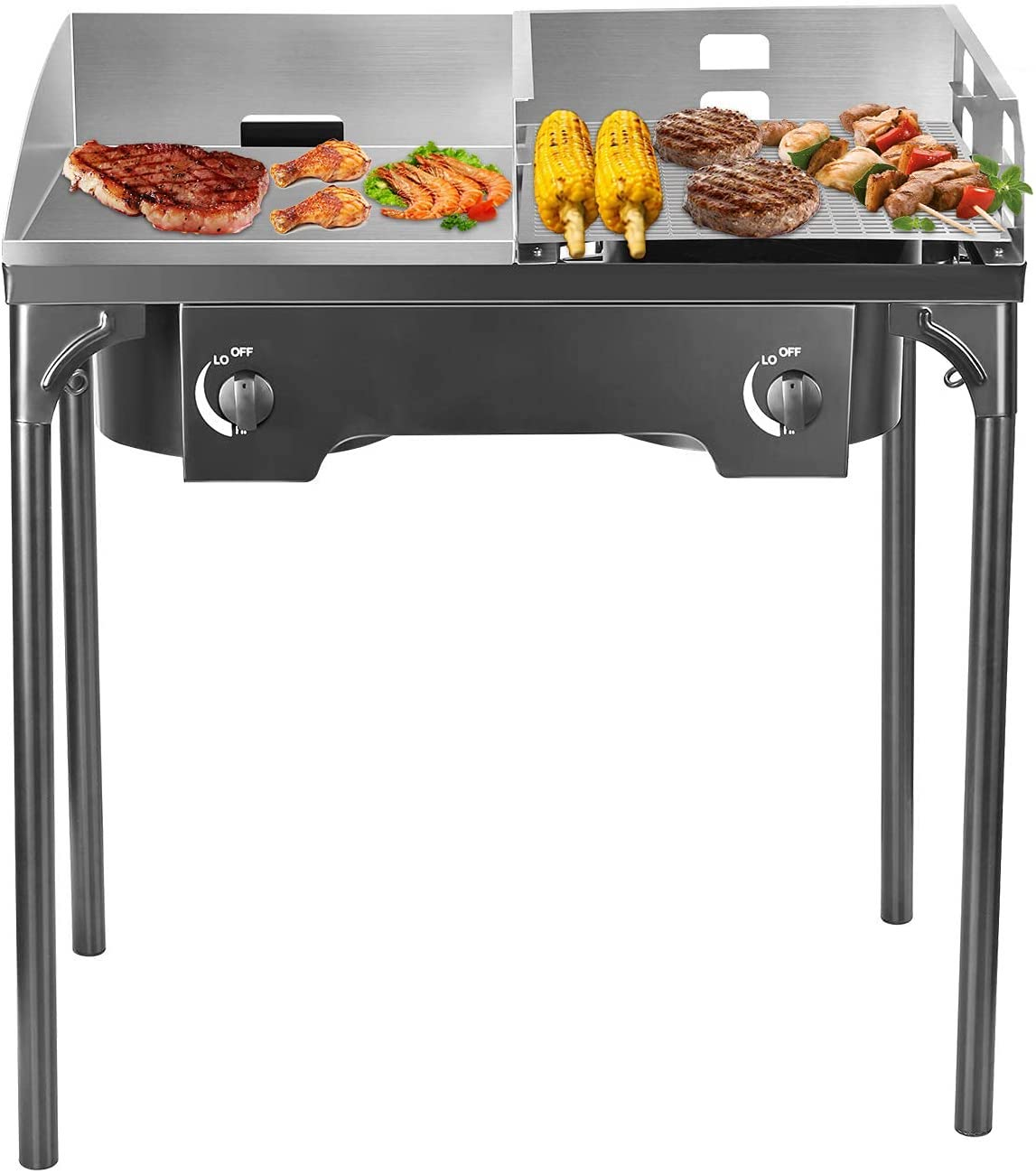 Best budget gas grill with griddle top-TELAM Gas Flat Top Grill