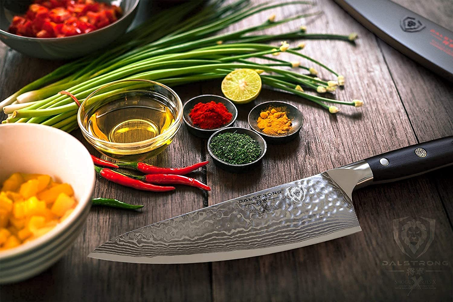 Best left-handed Gyuto (chef's) knife- DALSTRONG 8 Shogun Series X in the kitchen