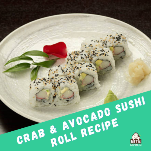 Delicious sushi without seaweed recipe: Crab & avocado roll