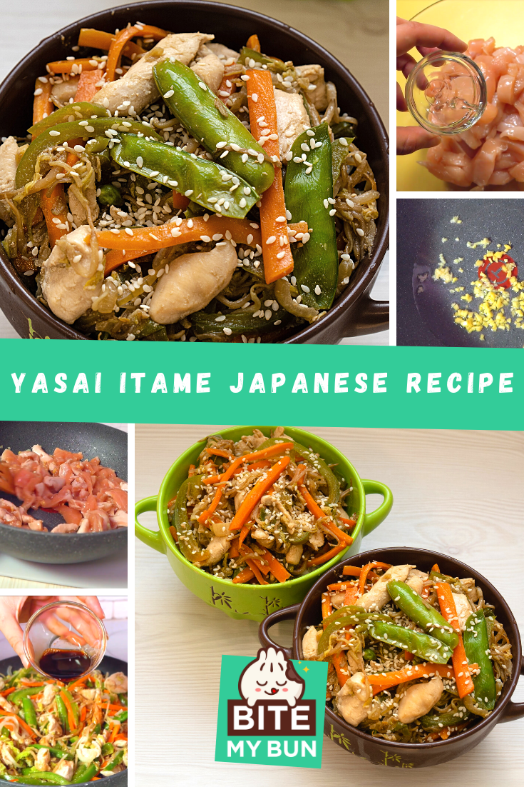 Yasai Itame with chicken recipe featured