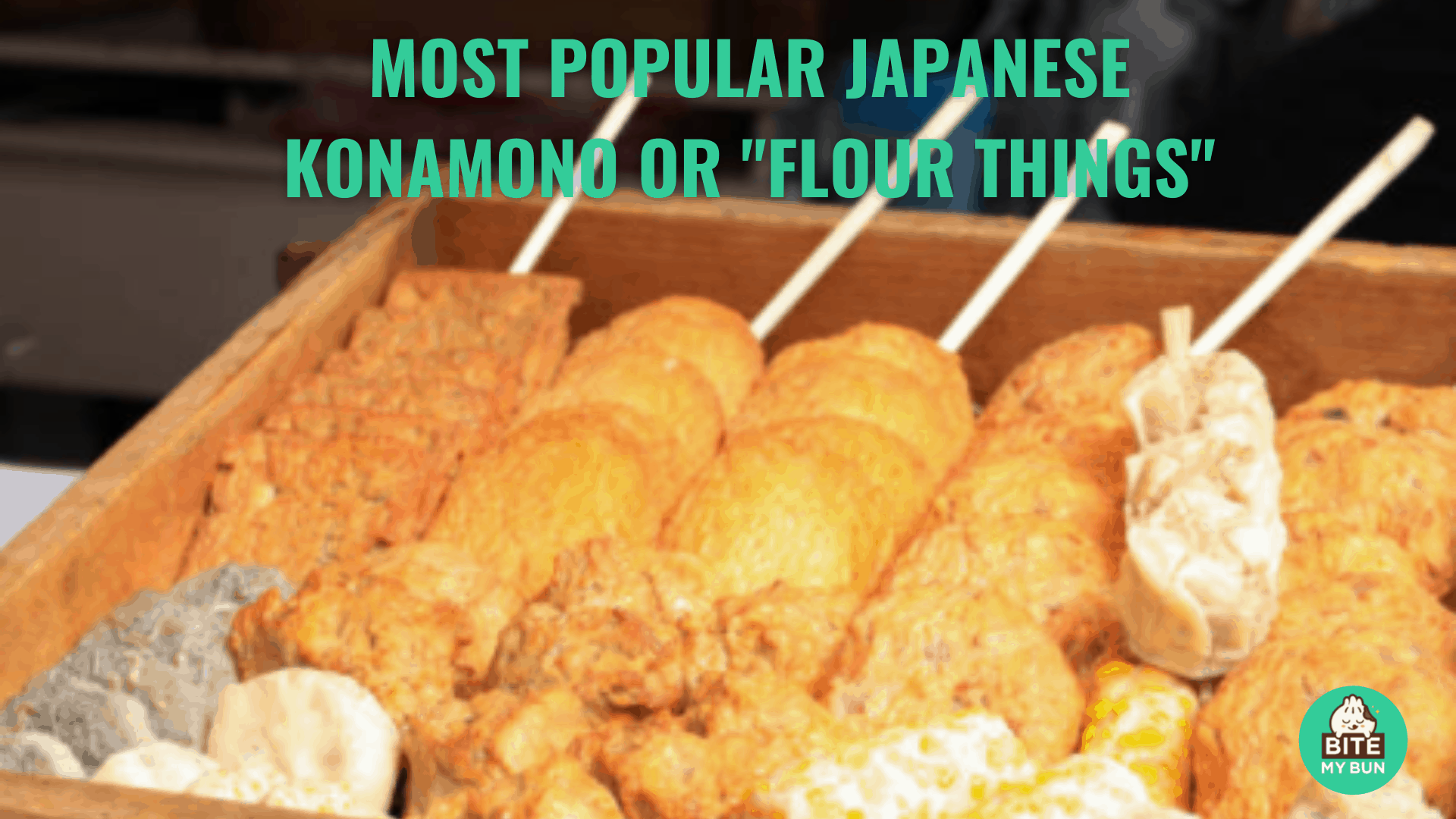 """Most popular Japanese konamono or """"flour things"""" 